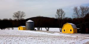 Snow on the Macon Farm
